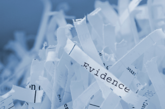 shredded evidence